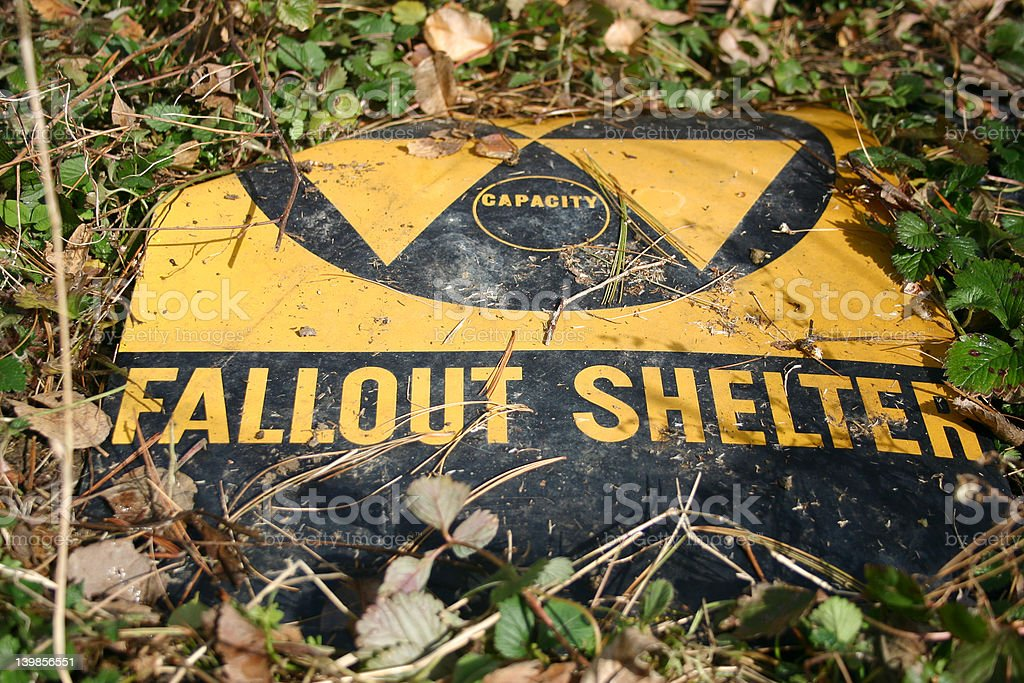 Fallen Fallout Shelter 2 royalty-free stock photo