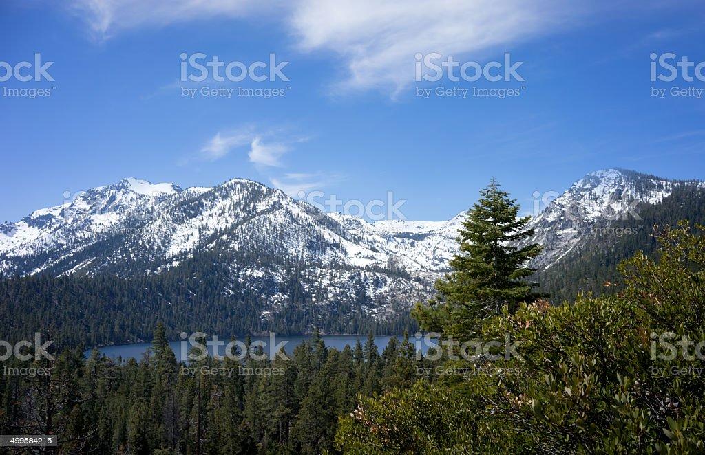 Fallen Leaf Lake in the Sierra Nevadas stock photo