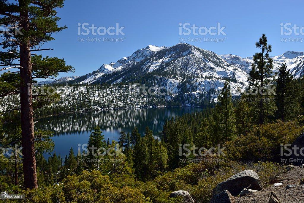 Fallen Leaf Lake Winter - Lake Tahoe stock photo