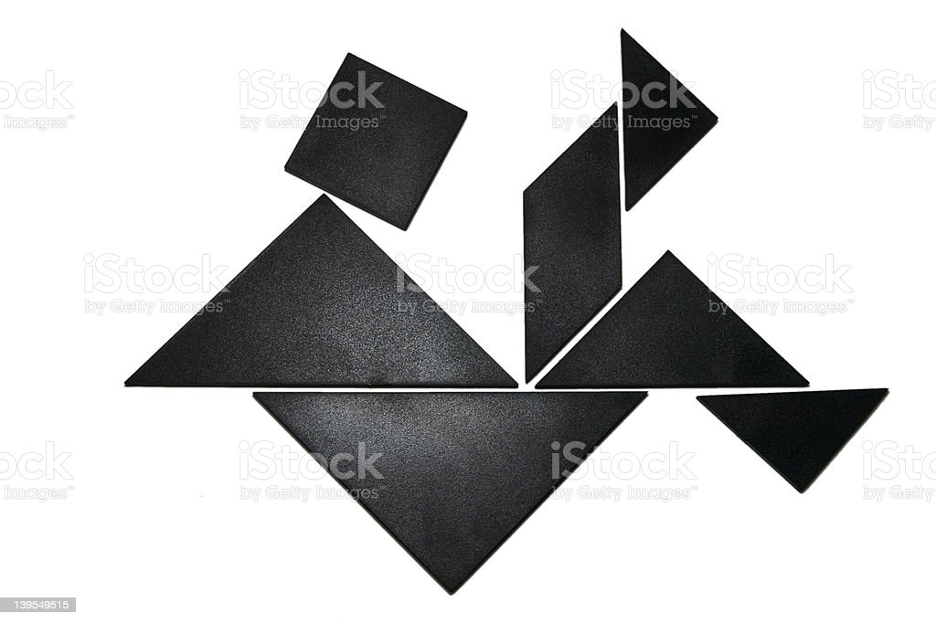 Fallen Man Tangram Two royalty-free stock photo