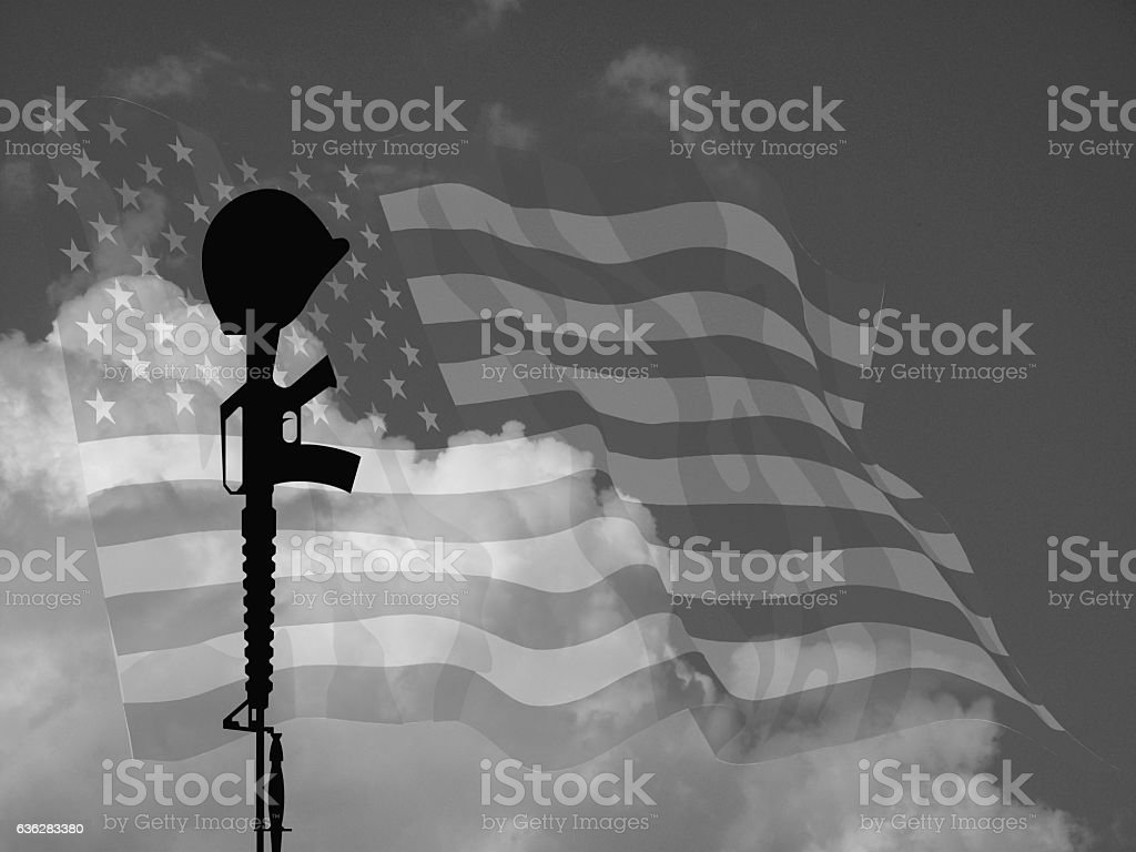 Fallen Soldier USA stock photo