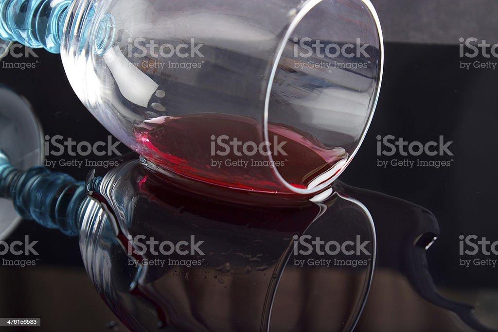 Fallen wine glass royalty-free stock photo
