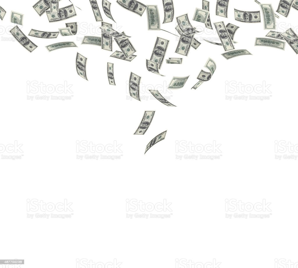 Falling American Currency stock photo