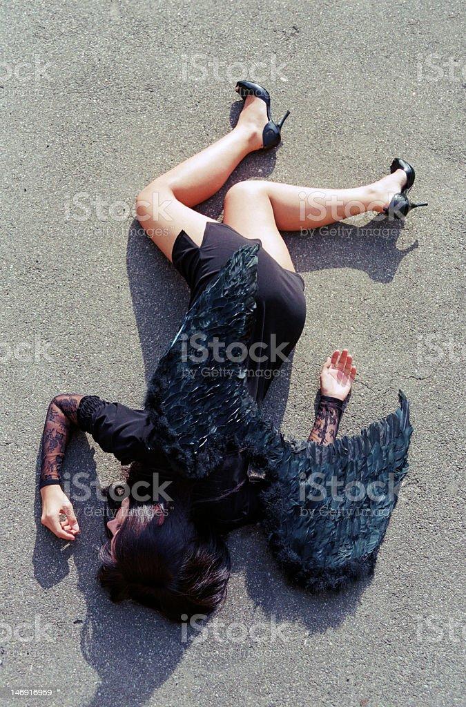 falling angel on ground royalty-free stock photo
