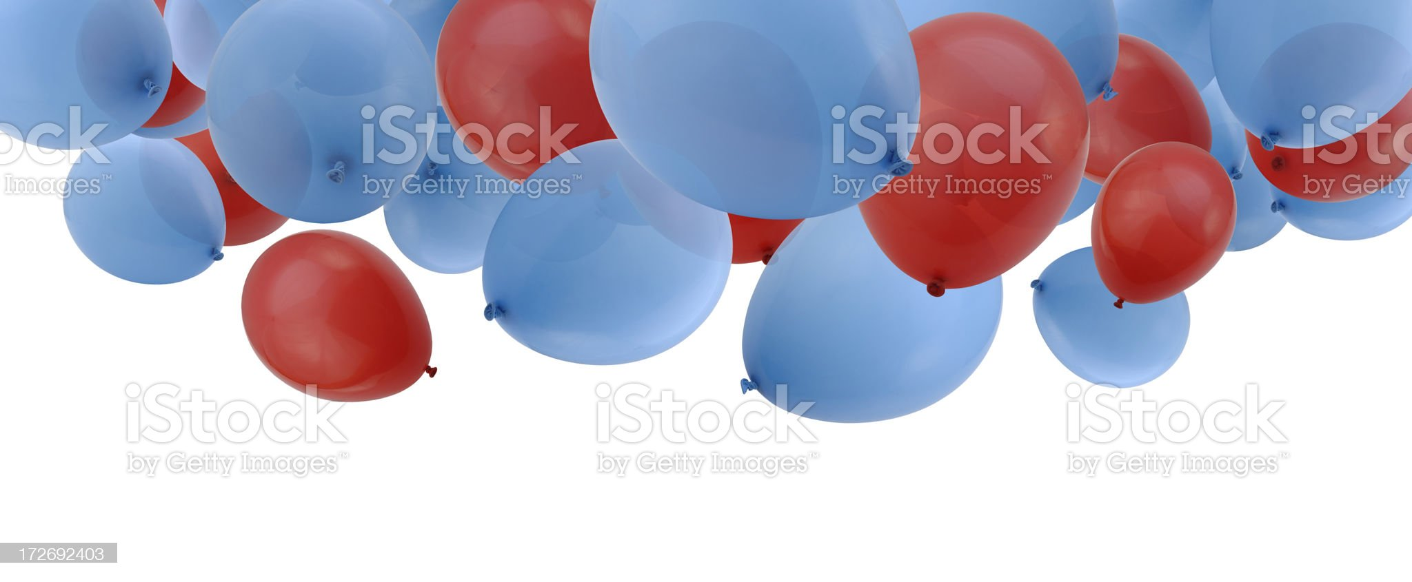 Falling Balloons royalty-free stock photo