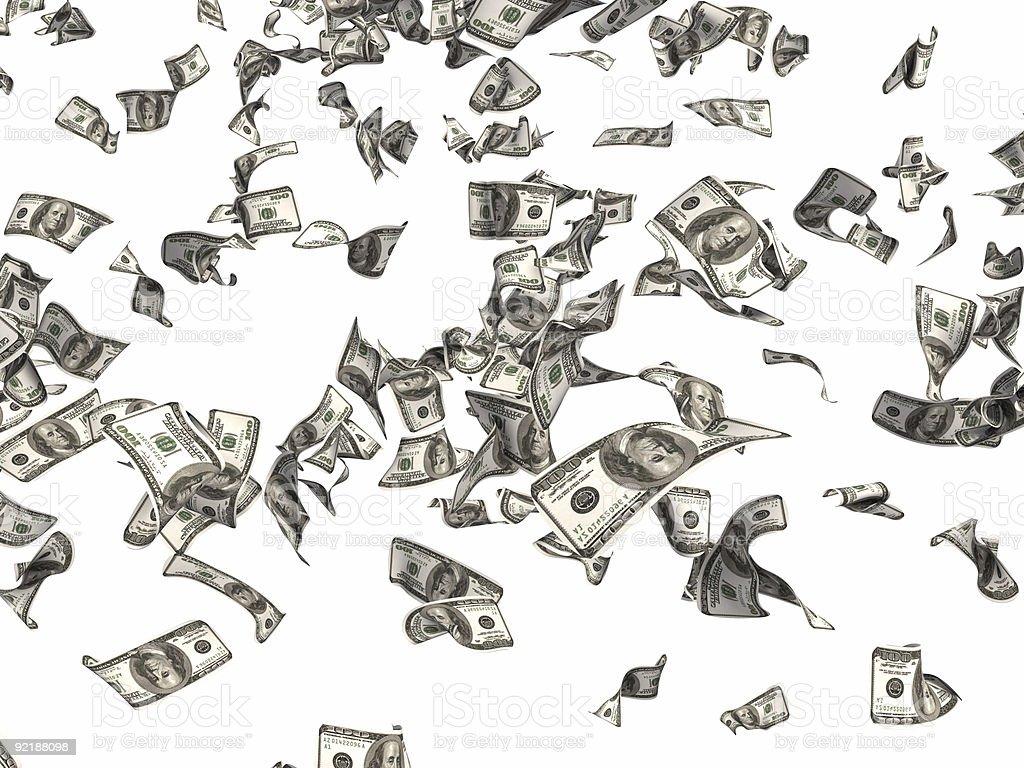 falling banknotes royalty-free stock photo