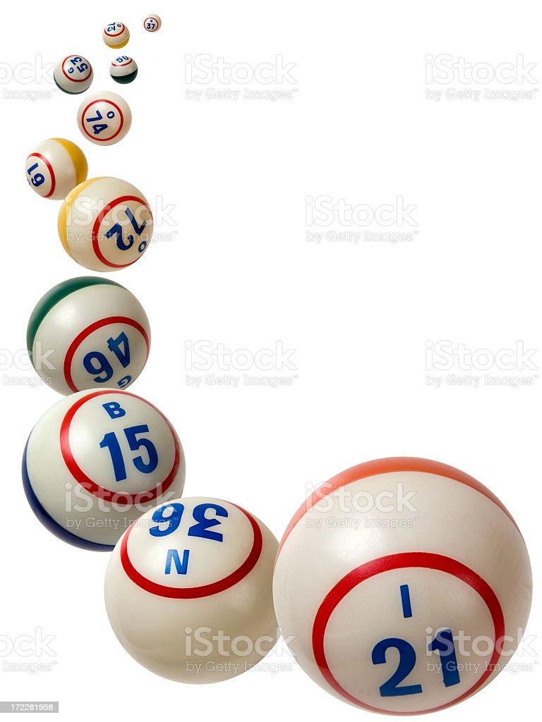 Falling Bingo Balls stock photo