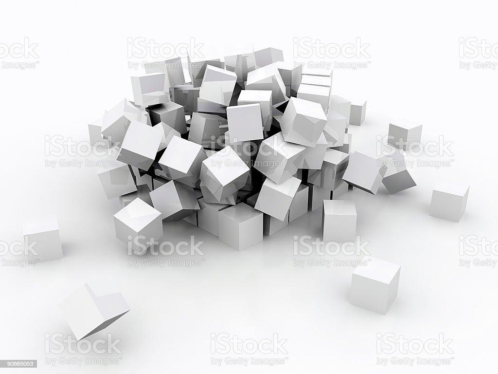 Falling Blocks (3D) royalty-free stock photo