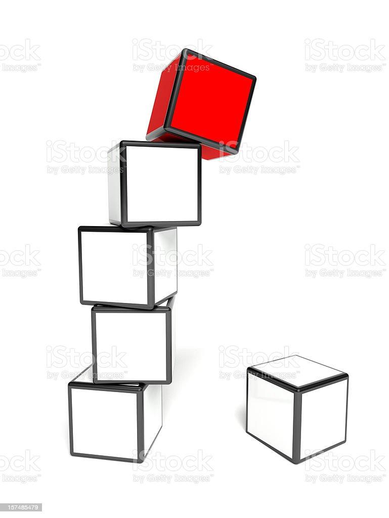 Falling box royalty-free stock photo