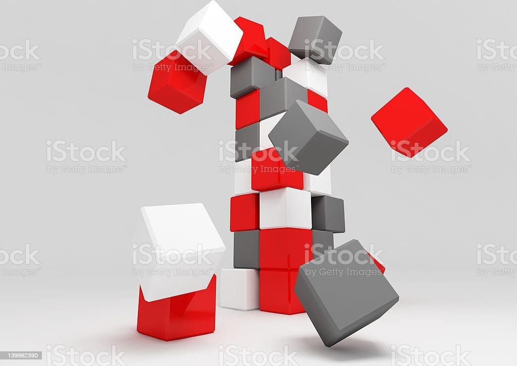 falling boxes royalty-free stock photo