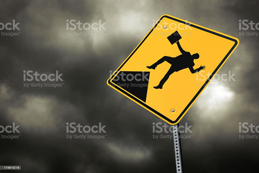 Falling Businessman royalty-free stock photo