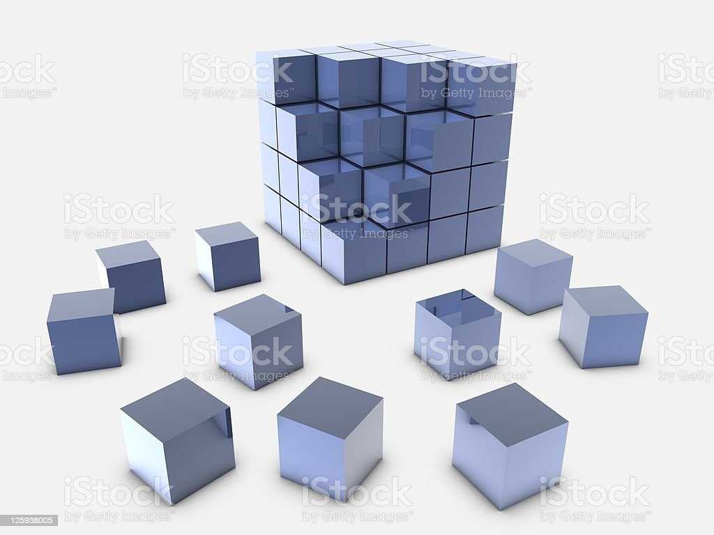 Falling Cubes royalty-free stock photo