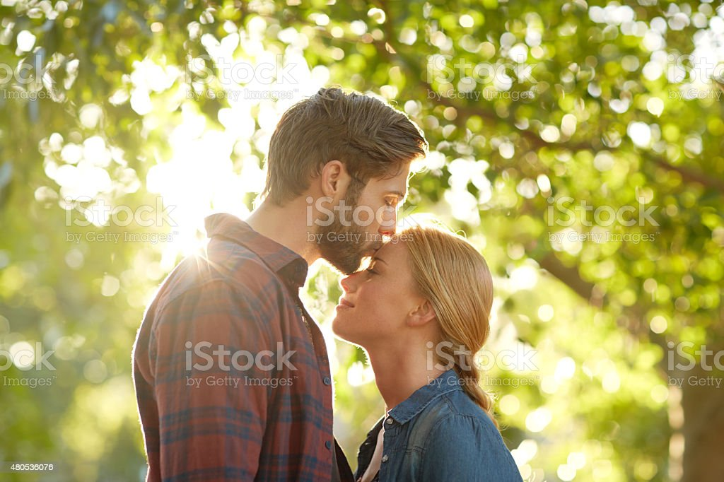 Falling deeper in love with you stock photo
