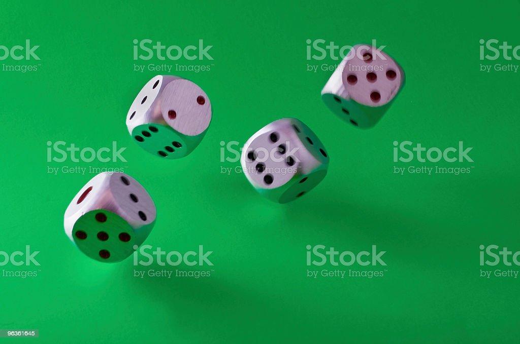 Falling dice royalty-free stock photo