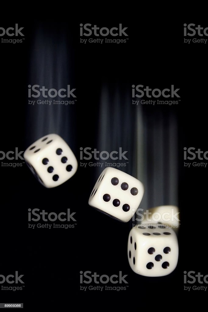Falling Dice w/ Motion Blur stock photo