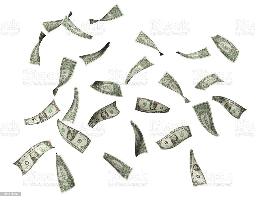 Falling Dollar Bills stock photo