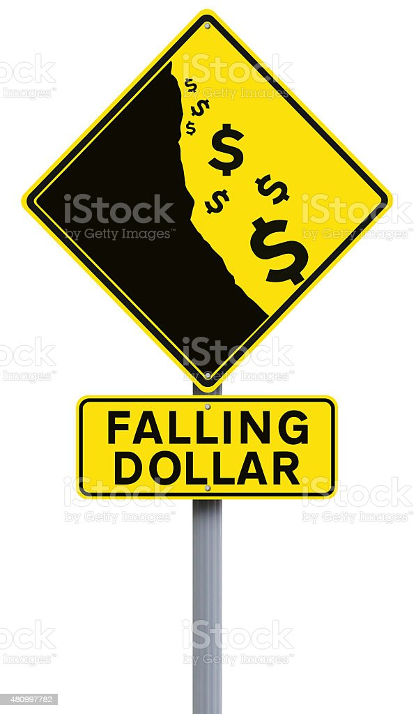 Falling Dollar stock photo