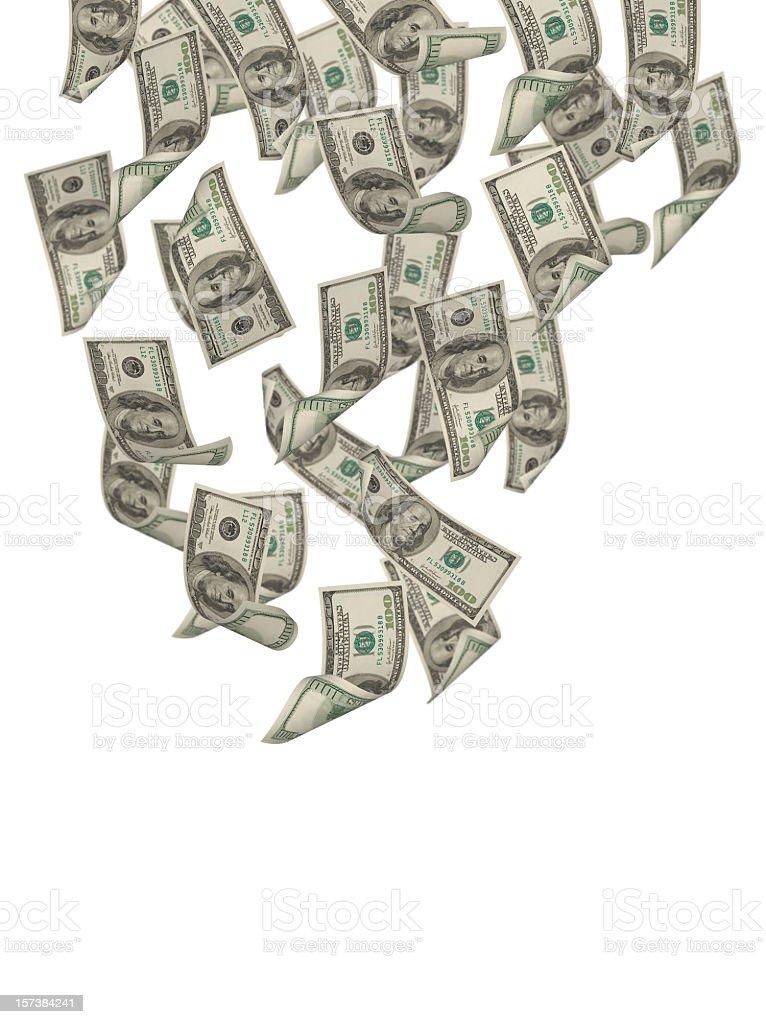 Falling Dollars stock photo