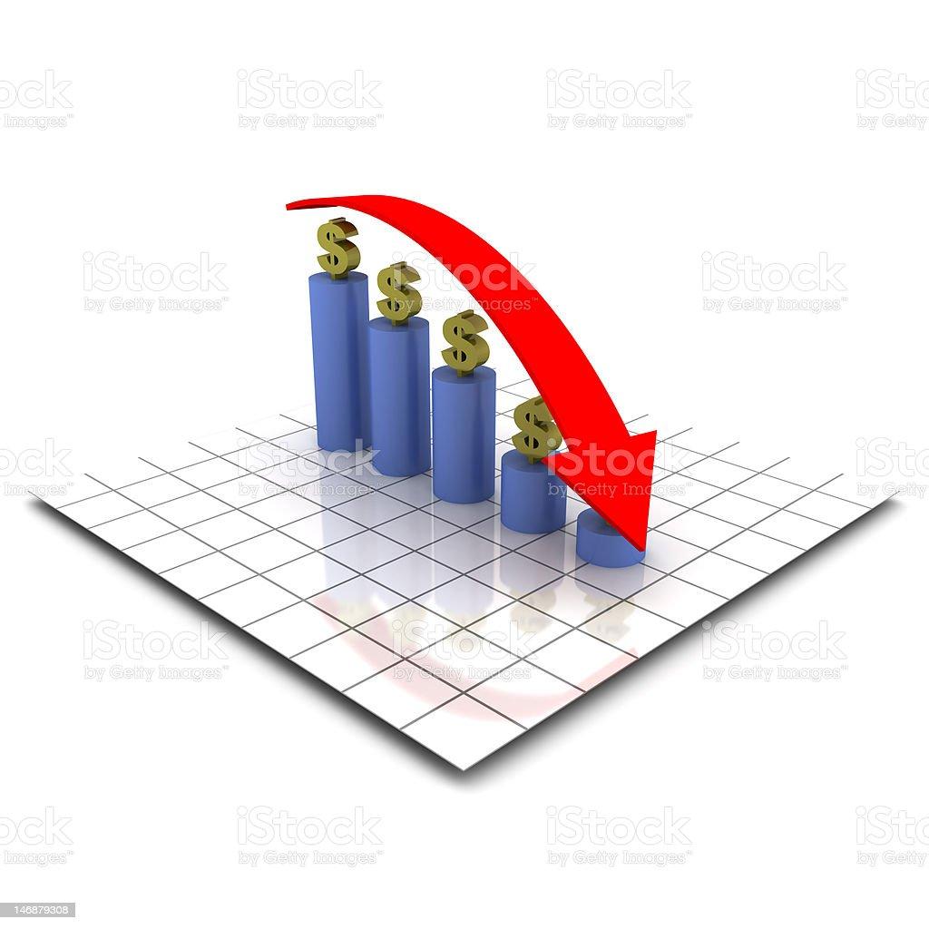 Falling economy (XXL) royalty-free stock photo