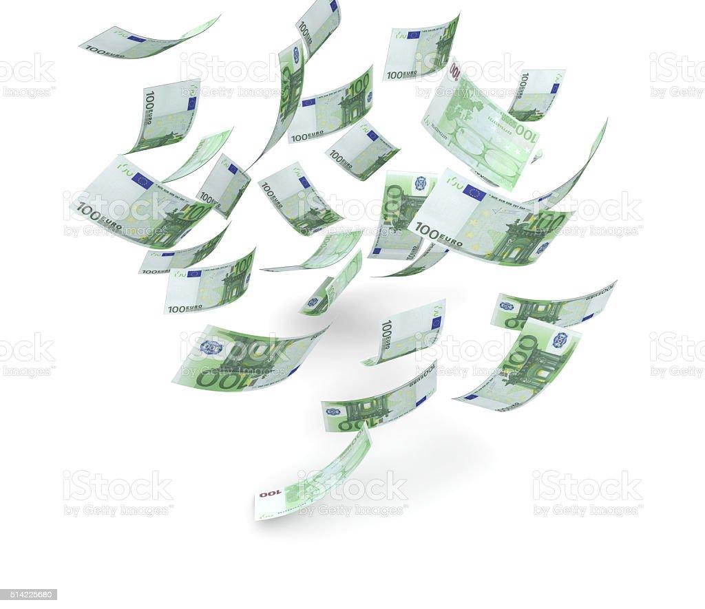 Falling Euros stock photo