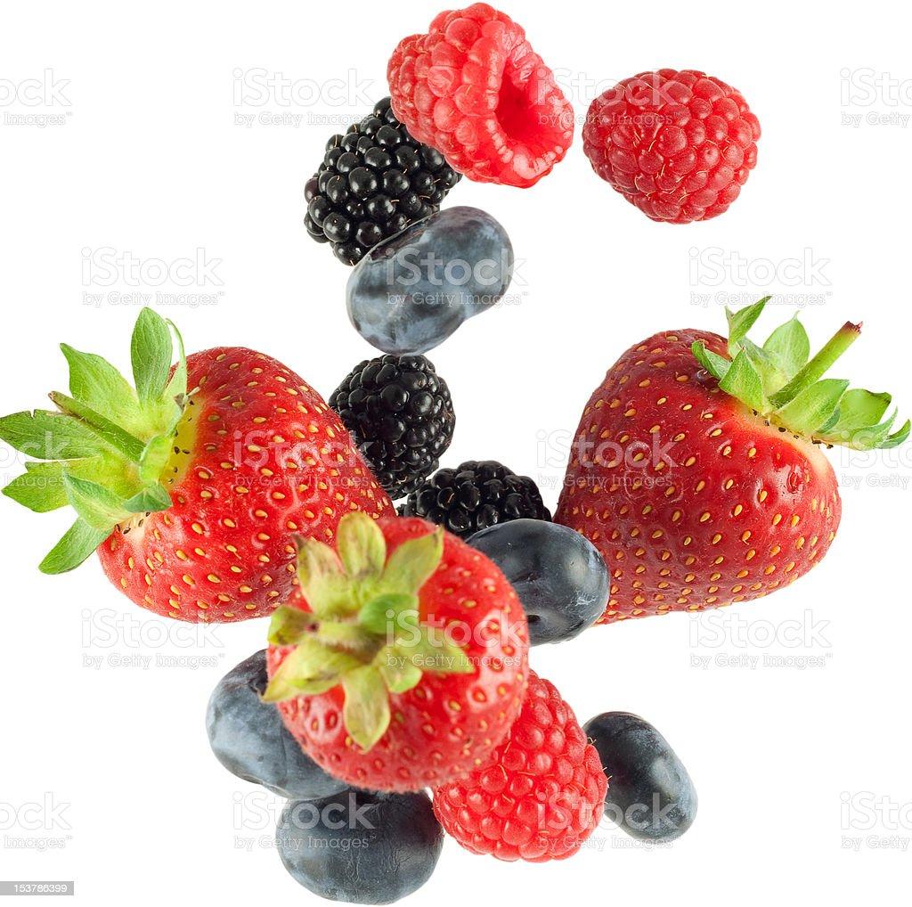 falling fruit isolated royalty-free stock photo