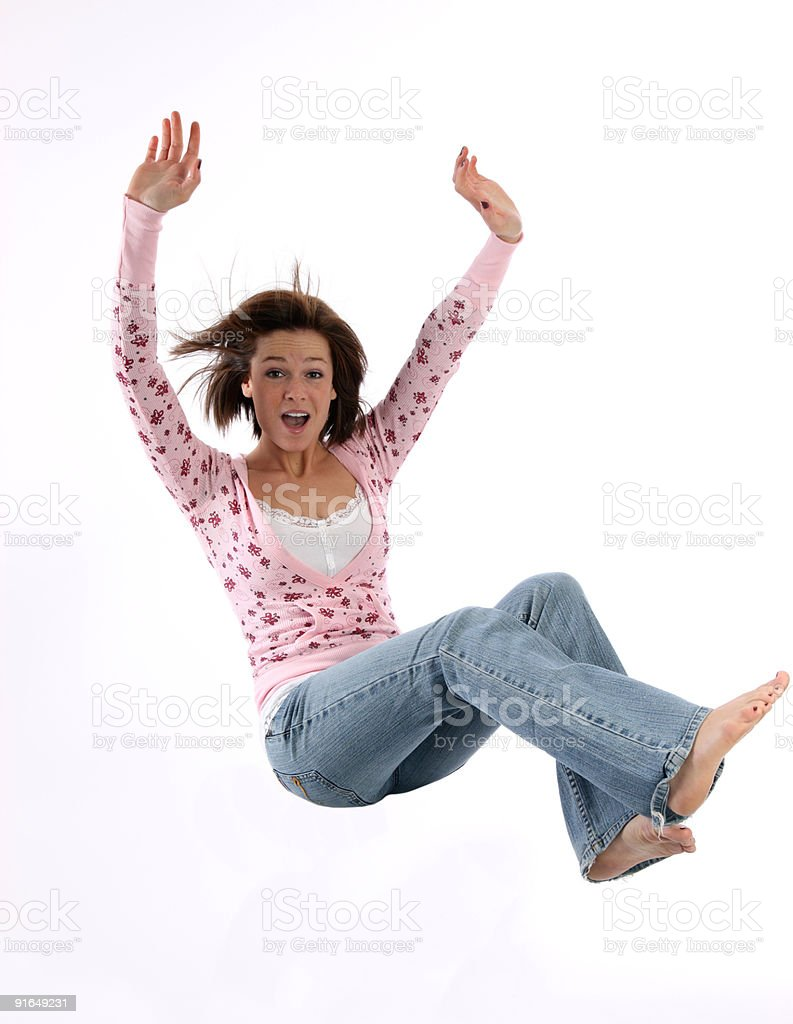 Falling girl royalty-free stock photo