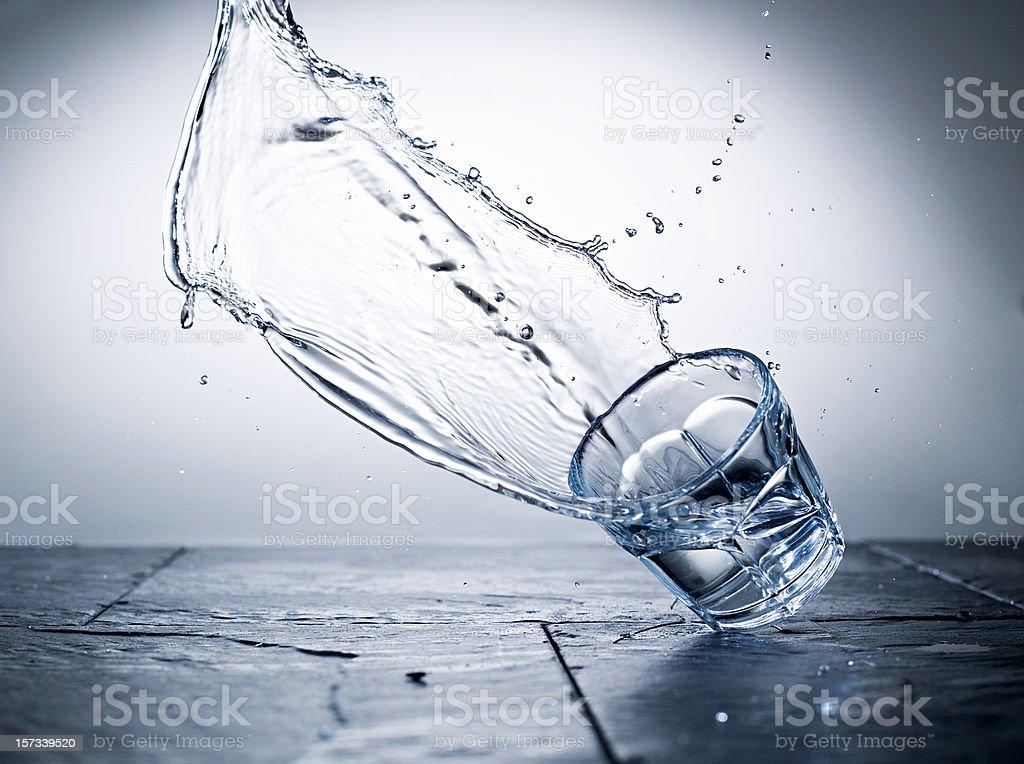 falling glass stock photo
