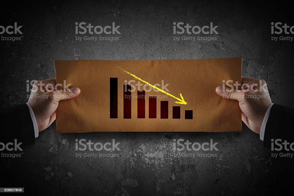 falling graph stock photo