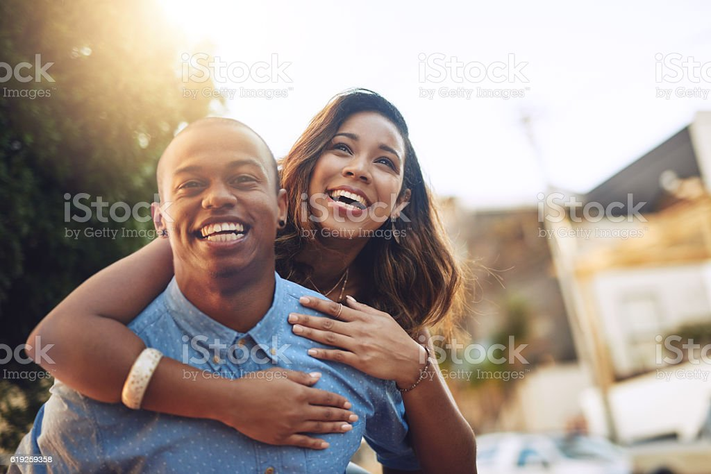 Falling in love is so much fun stock photo