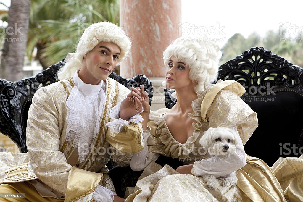 Falling in love with Marie Antoinette royalty-free stock photo