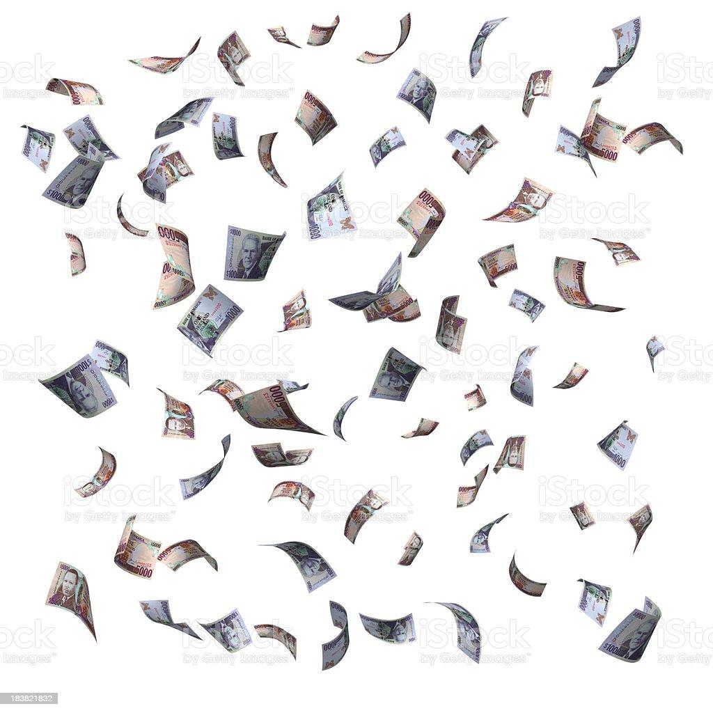 Falling Jamaican Money (XXXL) stock photo
