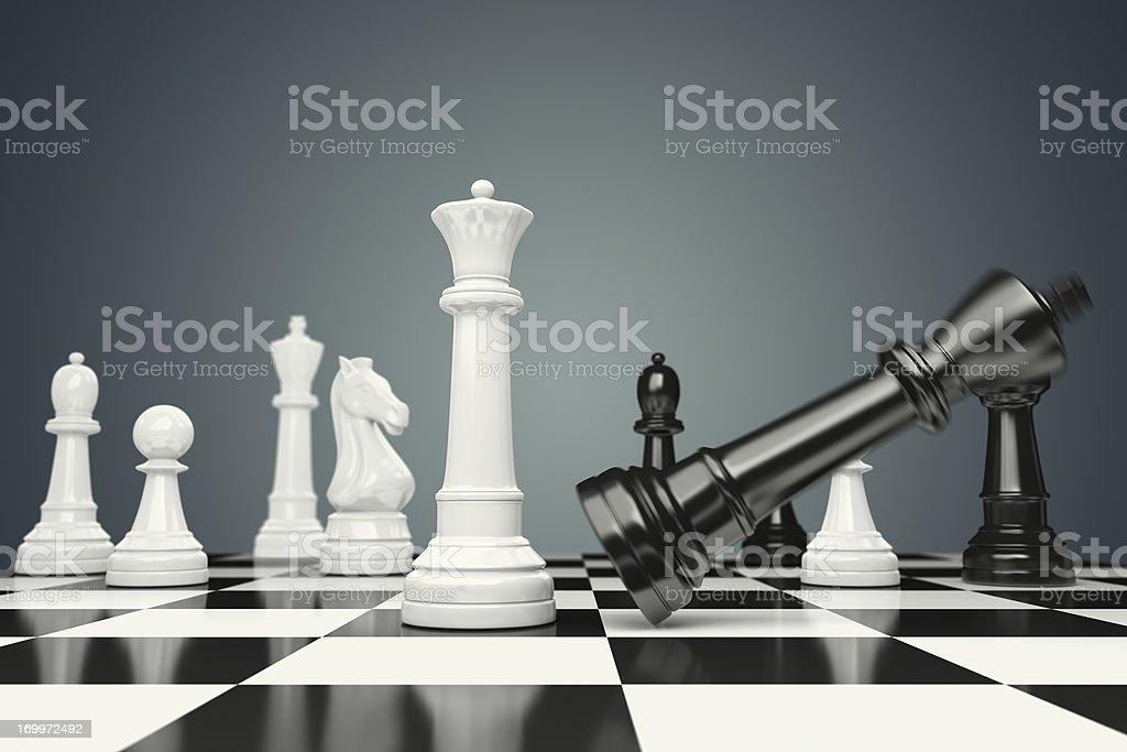 Falling King stock photo