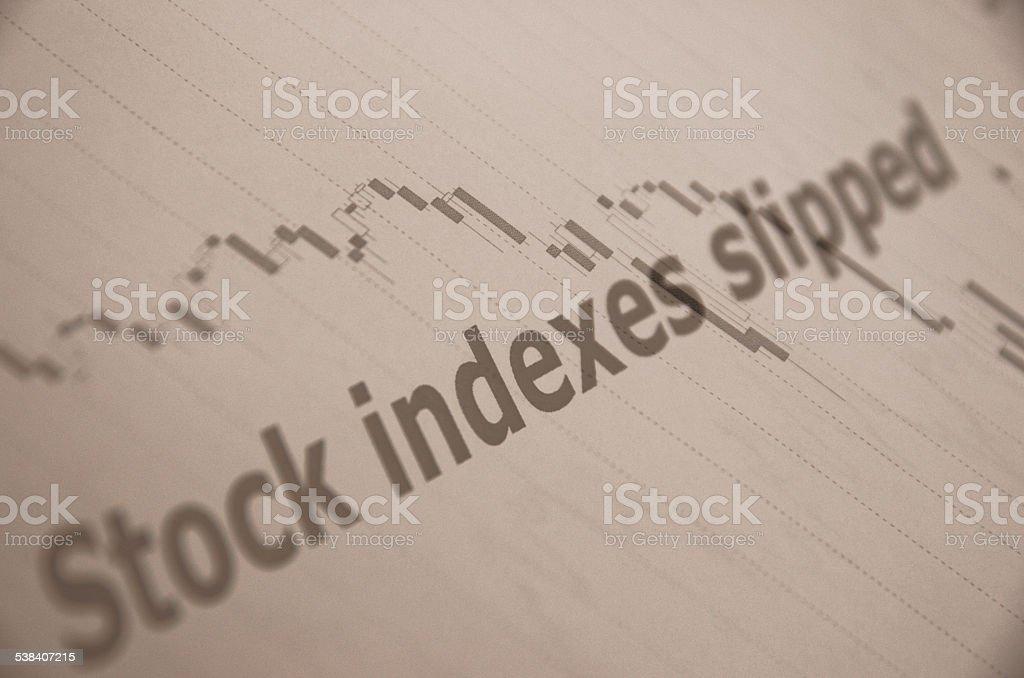 Falling market stock photo