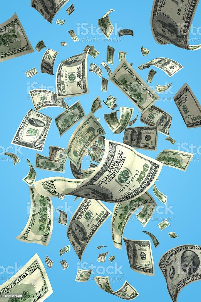 Falling Money Bills (XXXL) royalty-free stock photo