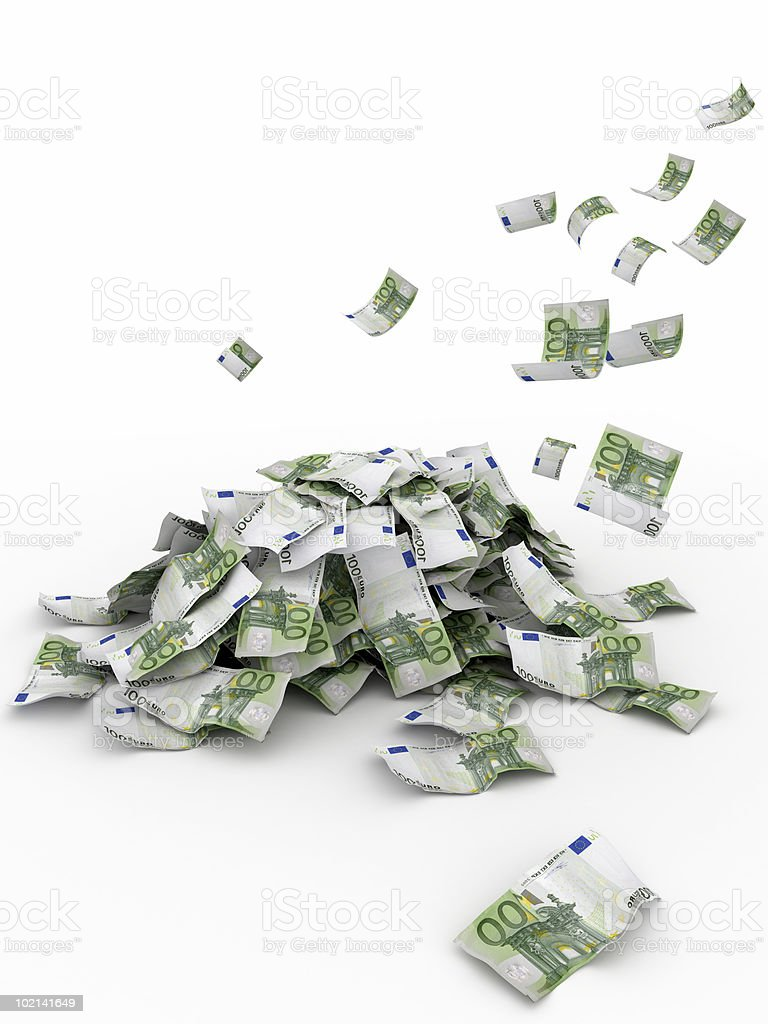 Falling Money - Euro royalty-free stock photo