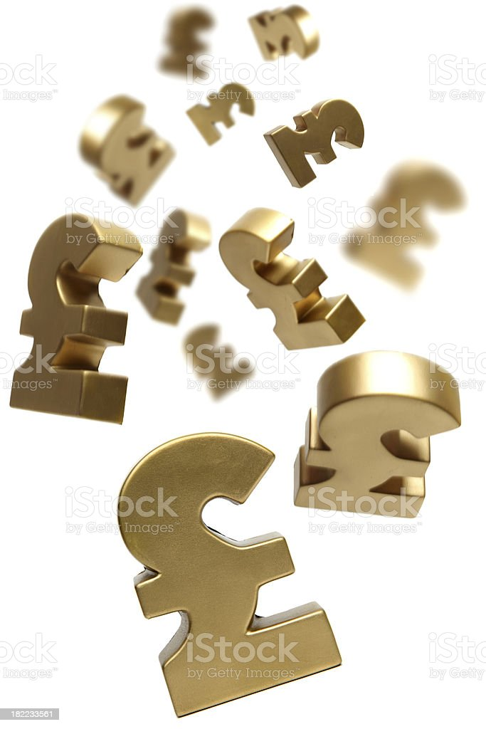 Falling money royalty-free stock photo