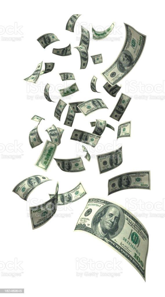 Falling Money (XXXL) royalty-free stock photo