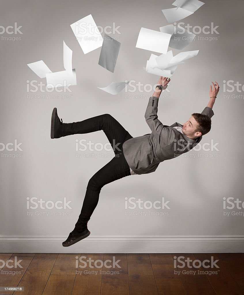 Falling Office Worker royalty-free stock photo