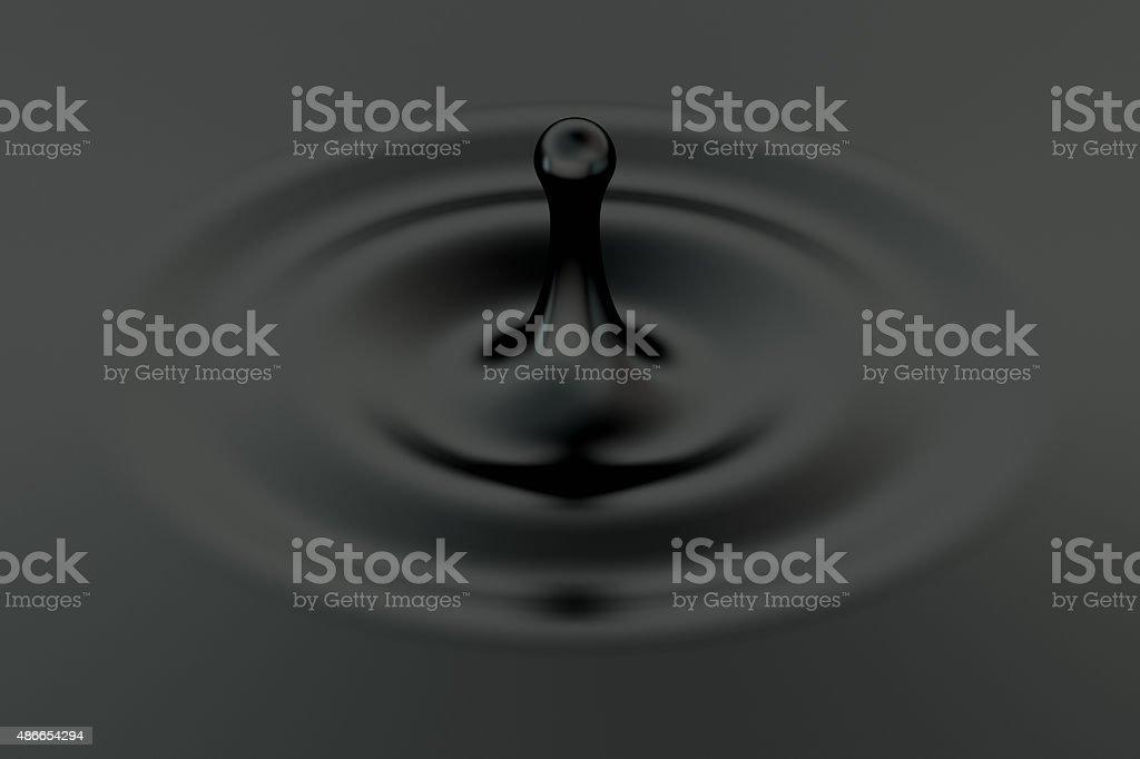 falling oil drop stock photo