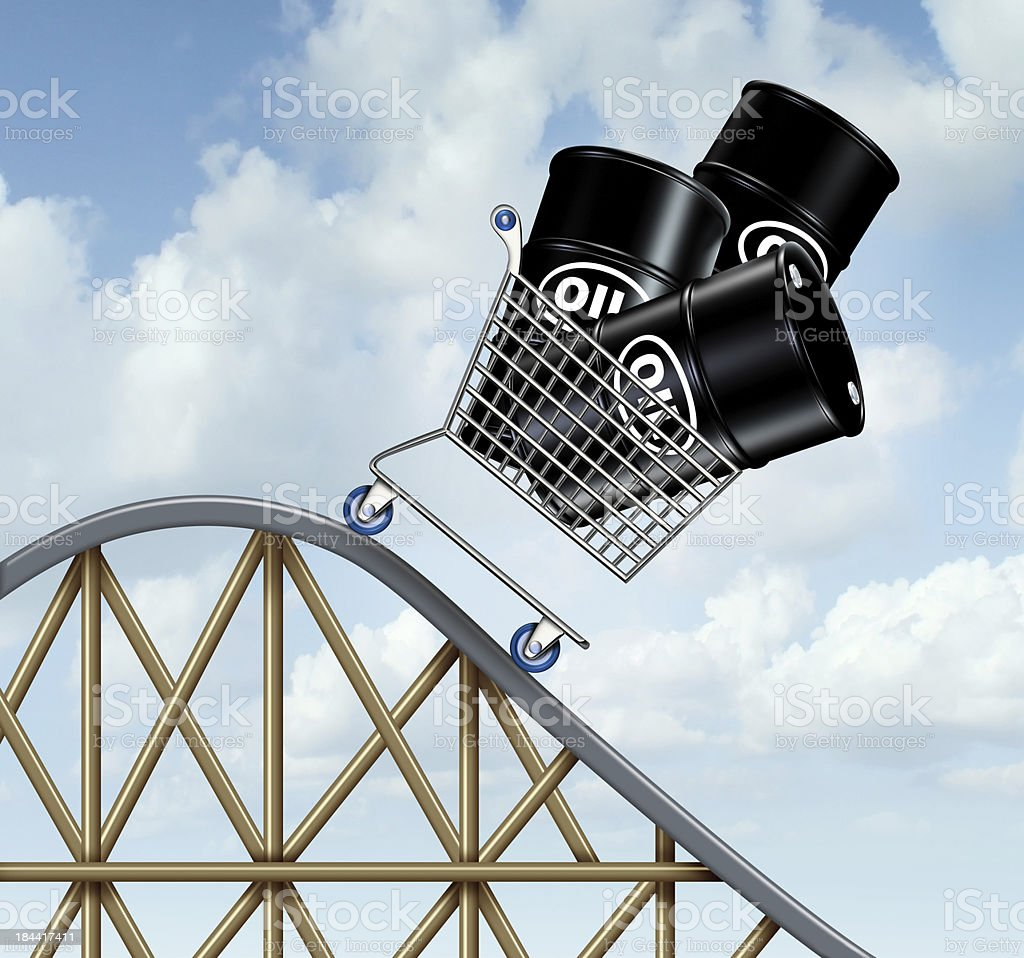 Falling Oil Prices royalty-free stock photo