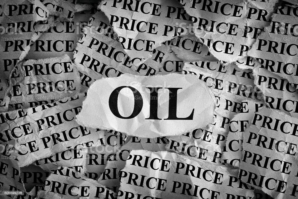 Falling oil prices stock photo