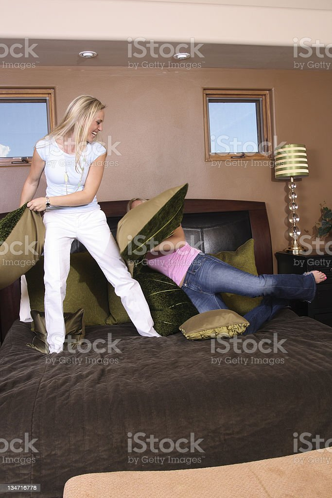 Falling Over! stock photo