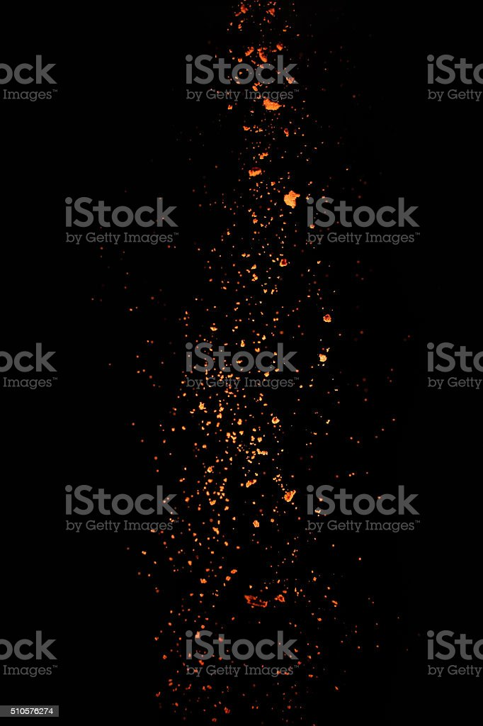 Falling paprika stock photo