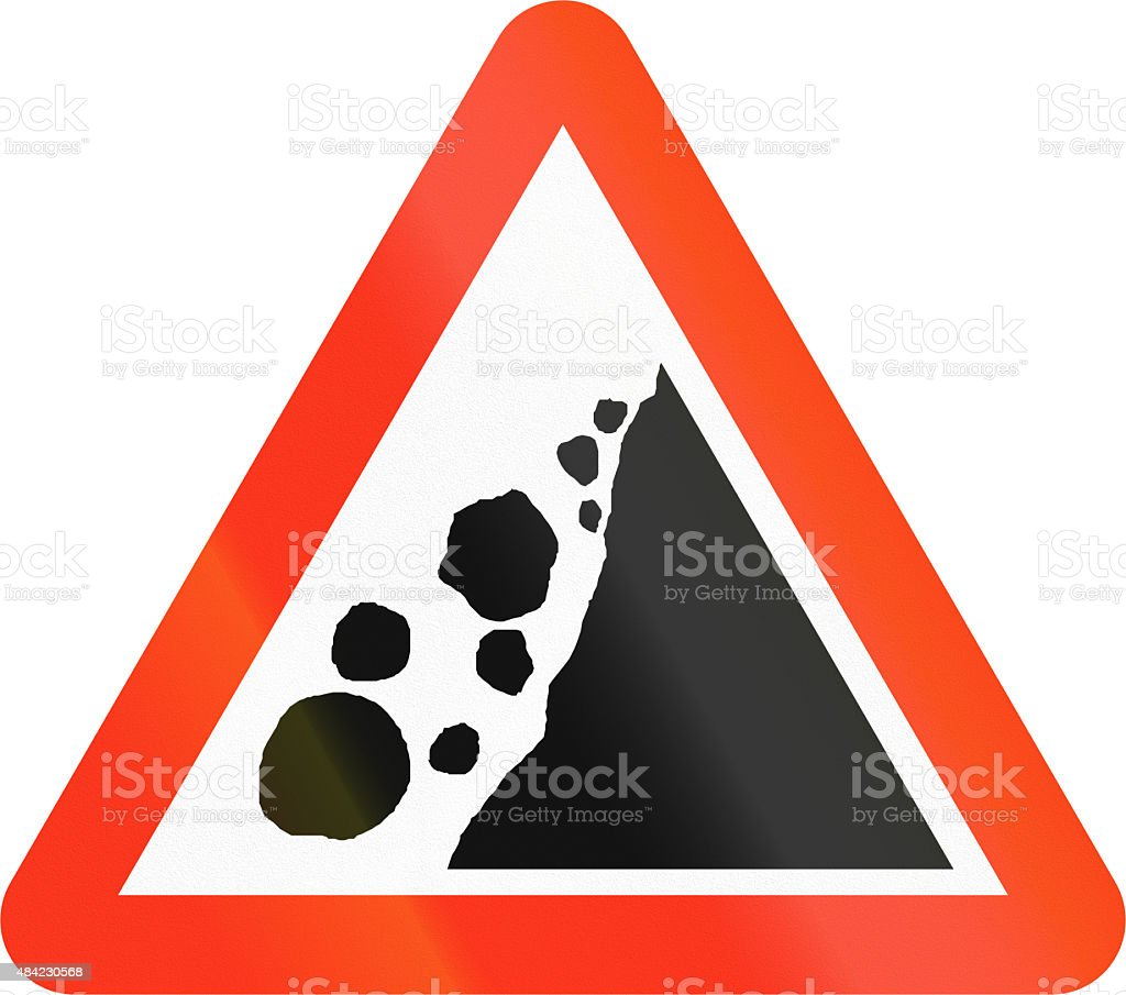 Falling Rocks in Bangladesh vector art illustration