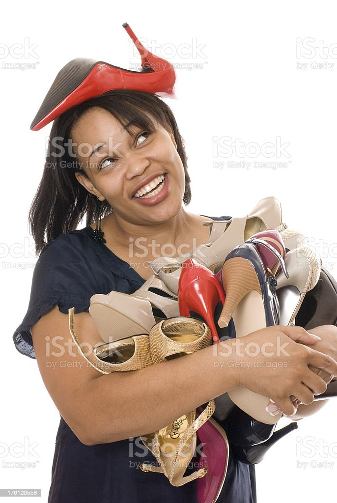 Falling Shoes royalty-free stock photo