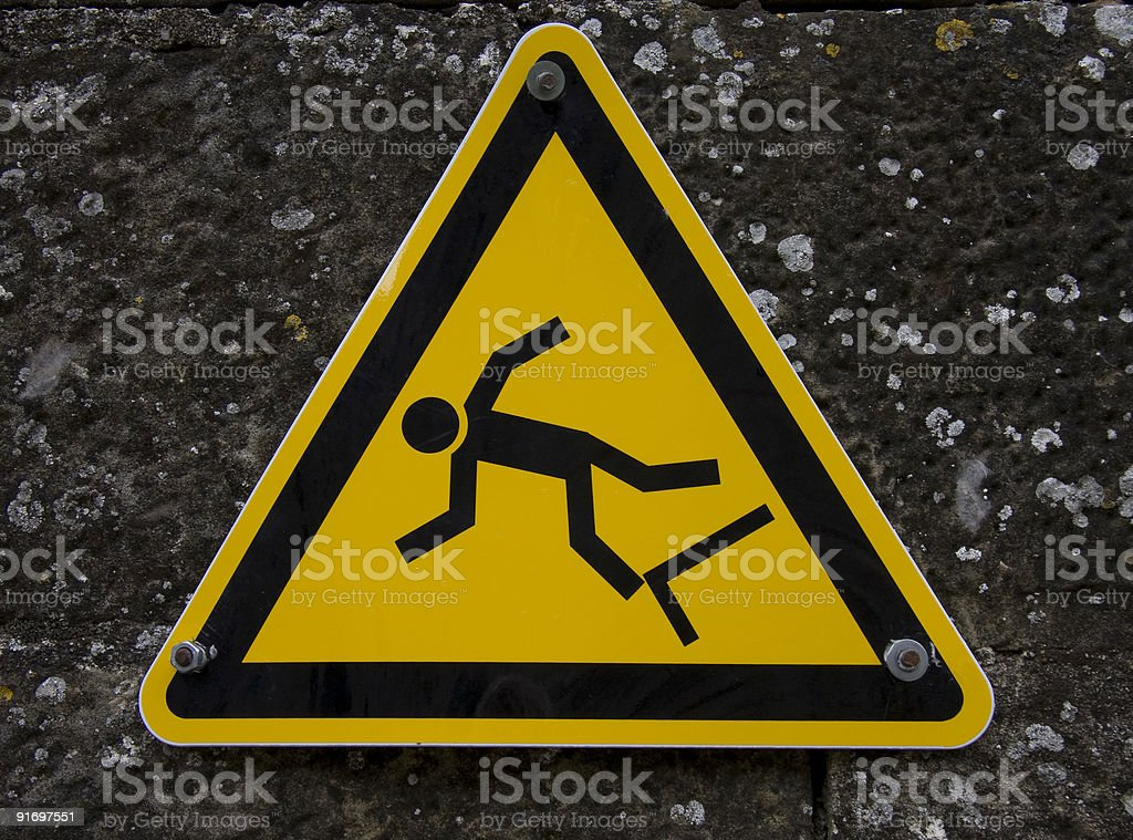 Falling Sign royalty-free stock photo
