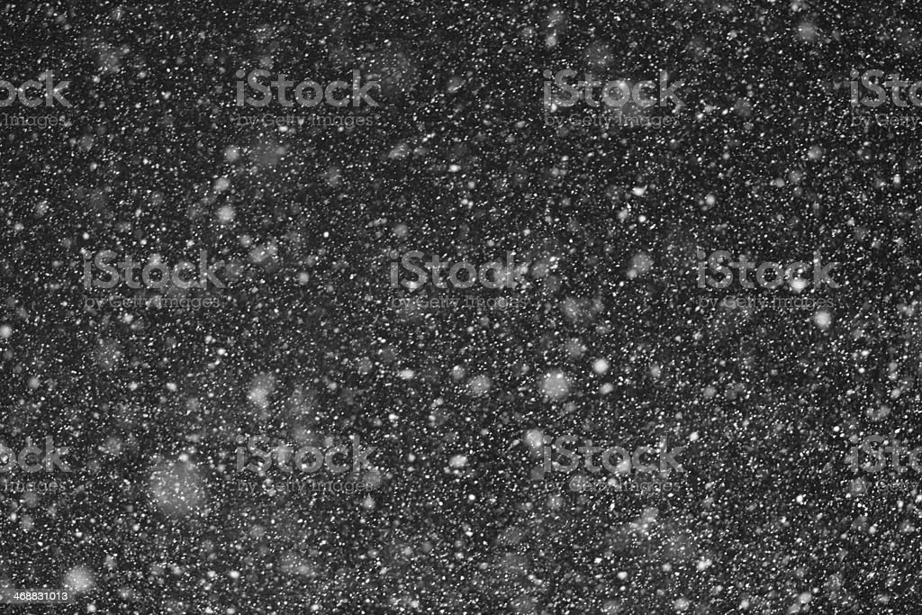 Falling Snow Overlay stock photo