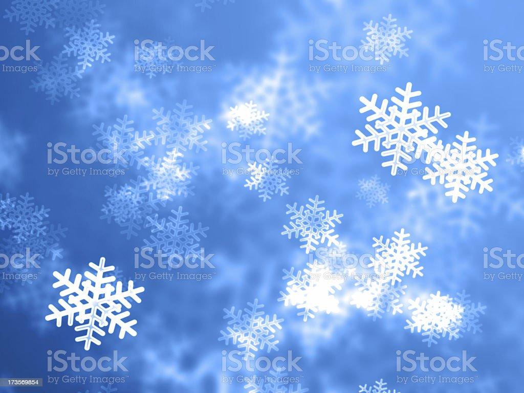 Falling snowflakes royalty-free stock photo