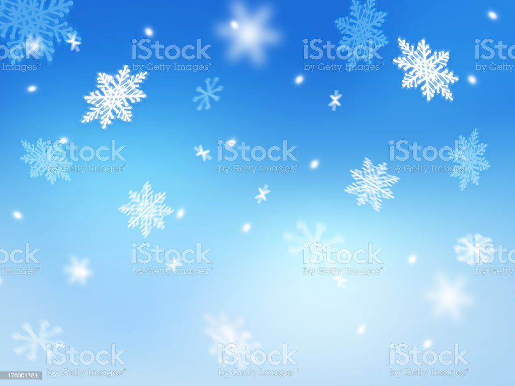 falling snowflakes royalty-free stock photo