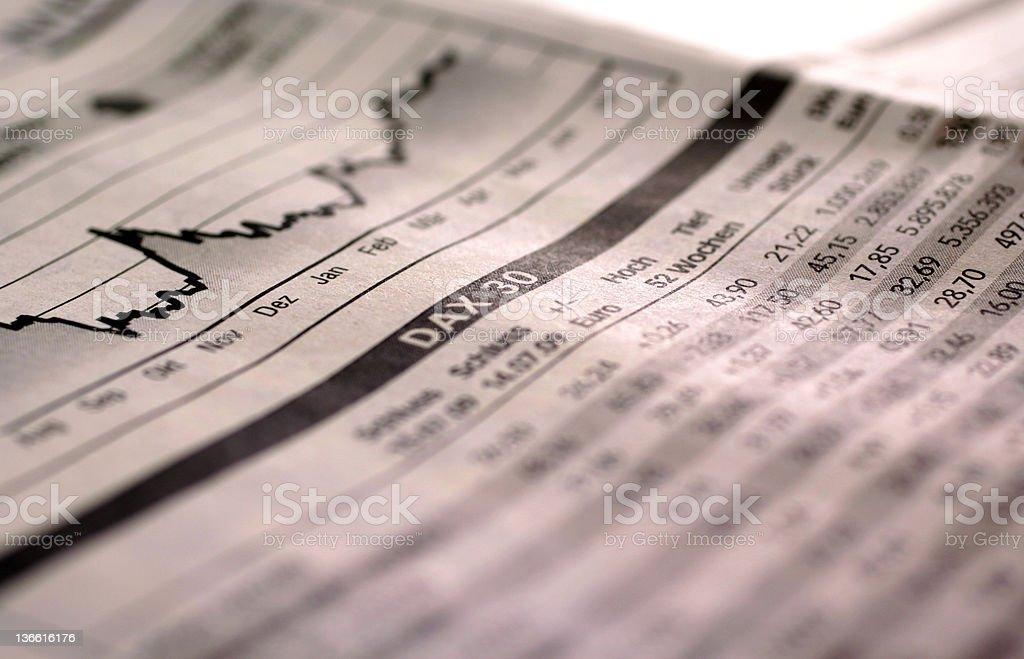 Falling stock index stock photo